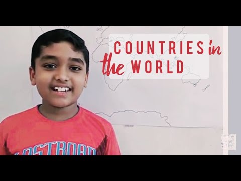 Countries of the world and their location: Learn with Amar