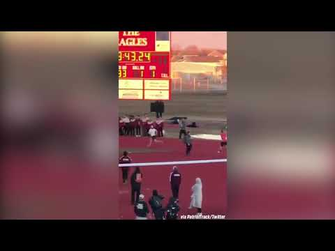 HILARIOUS! Track Coaches RACE Each Other After Event