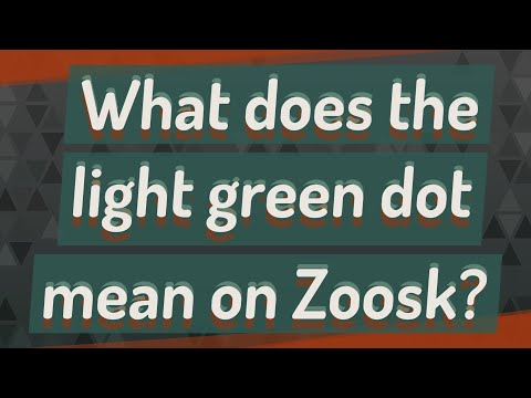 What Does The Light Green Dot Mean On Zoosk?
