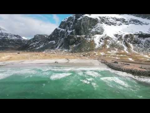 Surfing the Arctic Ocean - Gore-Tex Experience Tour 2016 Lofoten Islands, Norway - DJI Phantom 4