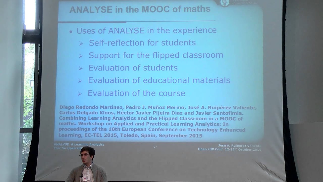 Pedro José Munoz Merino, UC3M - ANALYSE A Learning Analytics Extension for  Open edX (10/13/2015)