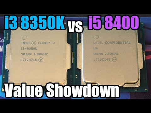 i3 8350K vs i5 8400 CPU Showdown - Which Is Better Value?