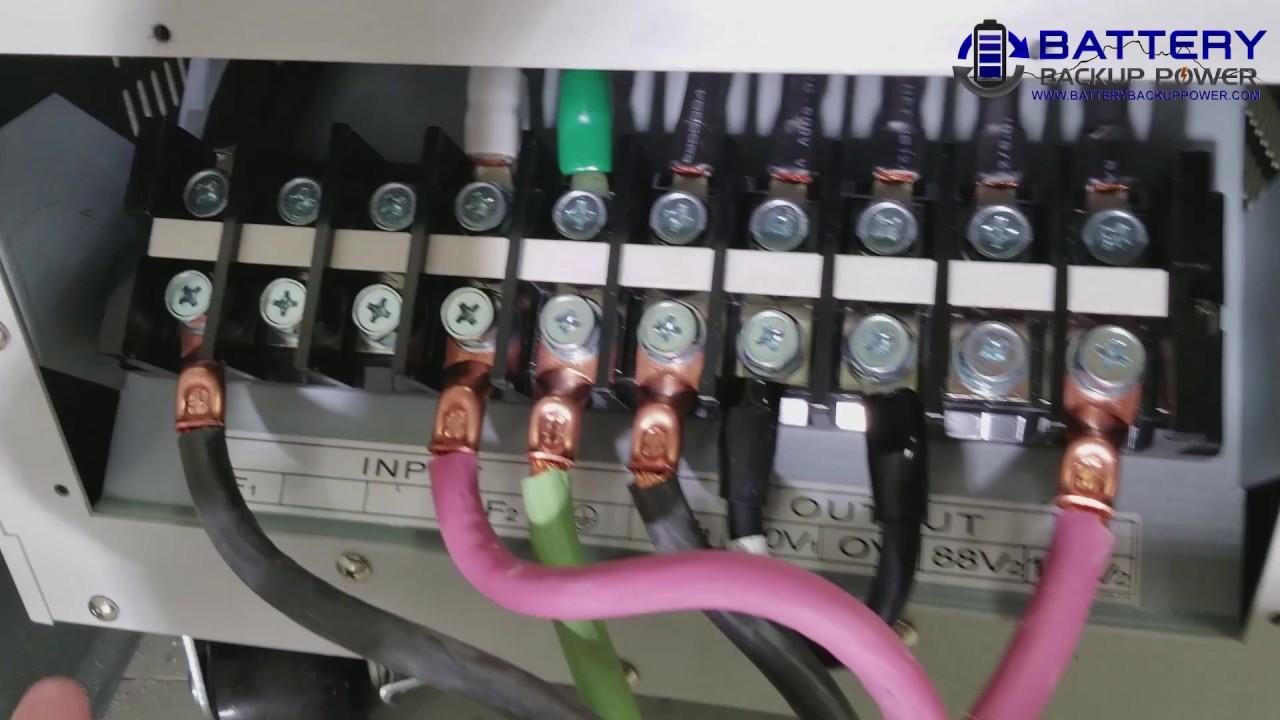 Wiring A 6 kva, 10 kva, 15 kva, or 20 kva Battery Backup
