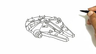 How to Draw the Millennium Falcon from Star Wars