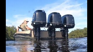 Download Poor Man's Triple Motor 12 Foot Center Console Bass Boat Mp3 and Videos