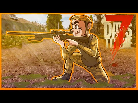 """FOUND THEM, Lining up the SNIPE FTW?! - 7 Days to Die PVP! (7 Days to Die - """"The Hunt"""" Day 8)"""