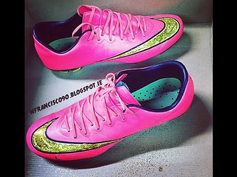 6a9c7d4bc Nike mercurial Vapor X - Customized with glitter - YouTube