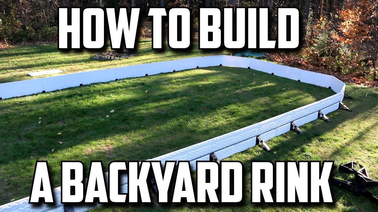 How To Build A Backyard Rink   YouTube