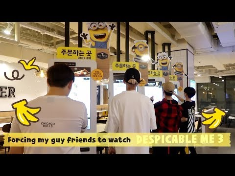 Vlog#11 Forcing Kpop Idol Friends To Watch MINIONS :) lol (Despicable Me 3)
