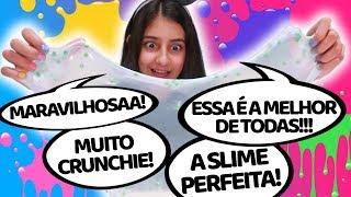 TESTANDO NOVOS KITS DE SLIME BASE CLEAR E BASE BRANCA - KIMELEKA - Julia Moraes