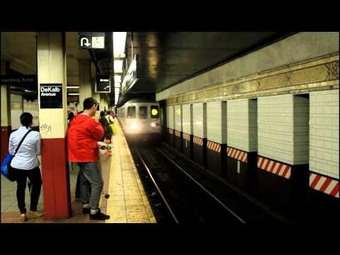 IND / BMT Subway Action: (B) (Q) (R) [(D) (N) bypass] (R46 / R68 / R160) at DeKalb Ave