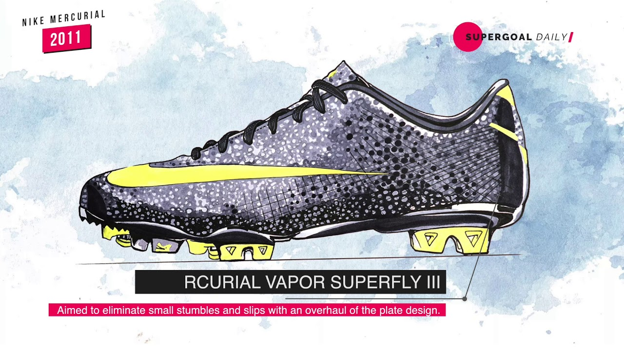 425428c65b73 Nike Mercurial Boots Evolution In 20 Years | The History of Vapor & Superfly