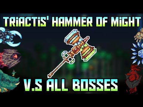 Triactis' Hammer of Might V.S All Bosses! 5000 Subscriber special! ||Terraria - Calamity Mod 1.2||