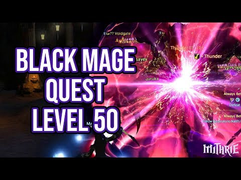 FFXIV 2.16 0265 Black Mage Quest Level 50 + Artifact Gear
