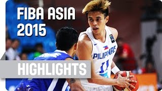 Philippines v India - Group E - Game Highlights - 2015 FIBA Asia Championship