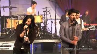 "Demi Lovato & Joe Jonas ""Wouldn´t change a thing""- Live on Walmart Soundcheck"