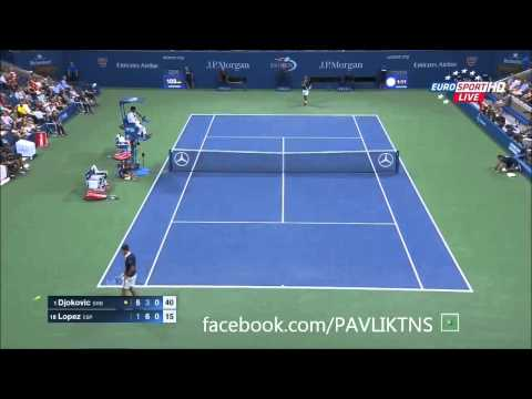 Novak Djokovic vs Feliciano Lopez Highlights US OPEN 2015