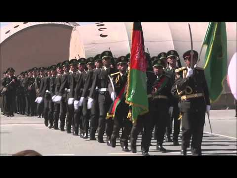 First intake of troops graduate from the Afghan National Army Officer Academy.