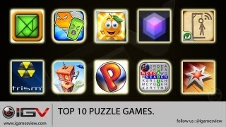 Top 10 Puzzle Games For iPhone / iPad / iPod Touch