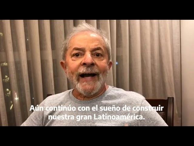 Saludo de Lula al Grupo de Puebla