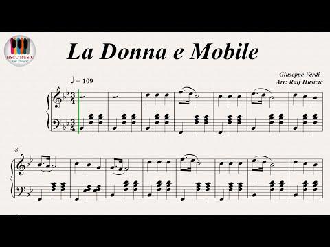 La Donna e Mobile (Rigoletto) - Giuseppe Verdi, Piano