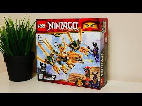 Lego Ninjago Złoty Smok 70666 Recenzja Youtube