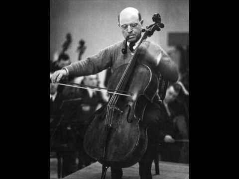 Pablo Casals: Dvorak Cello Concerto - 3rd mvt. (1/2)