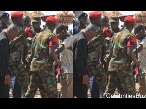 Kofi TV's reporter chops hot slap from Military men at Obuasi while filming Richard Agu's marriage