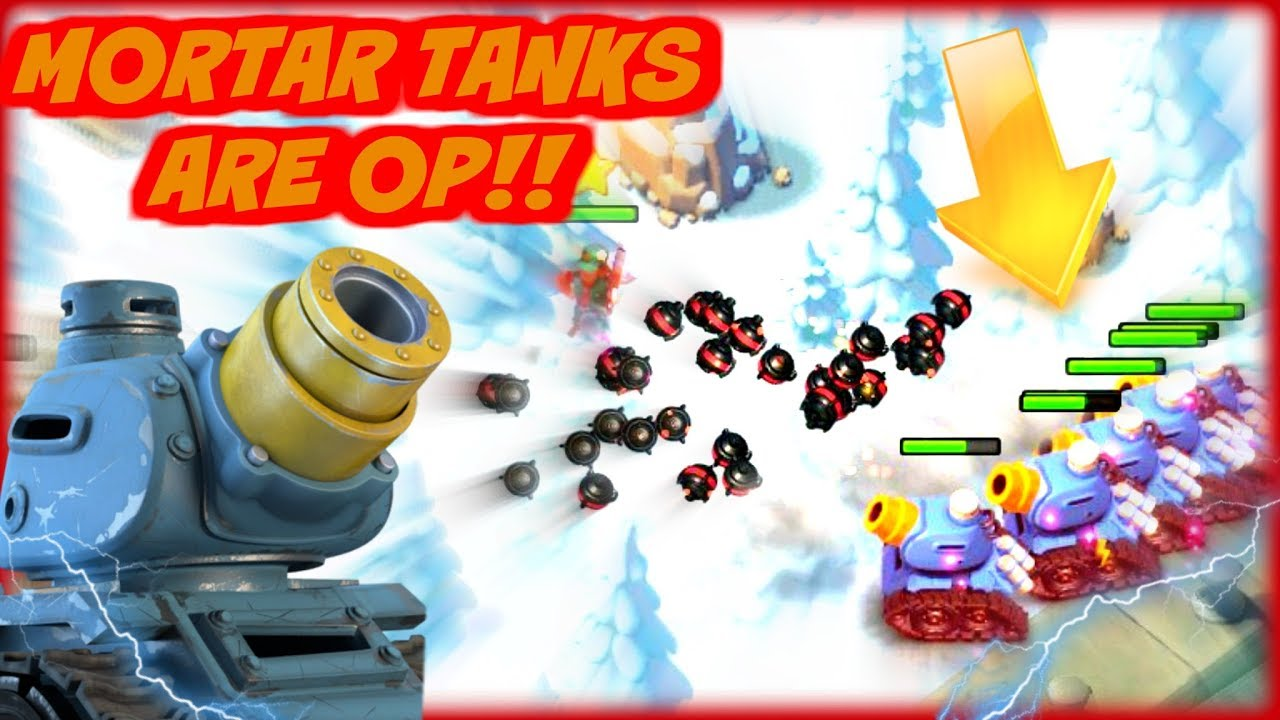 rainmakers too strong mortar tanks in boom beach youtube