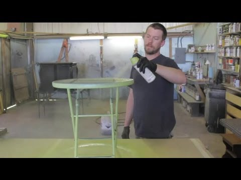 How to Paint Metal Lawn Furniture : Furniture Restoration