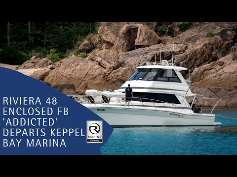 Riviera 48 Enclosed Leaving Keppel Bay Marina