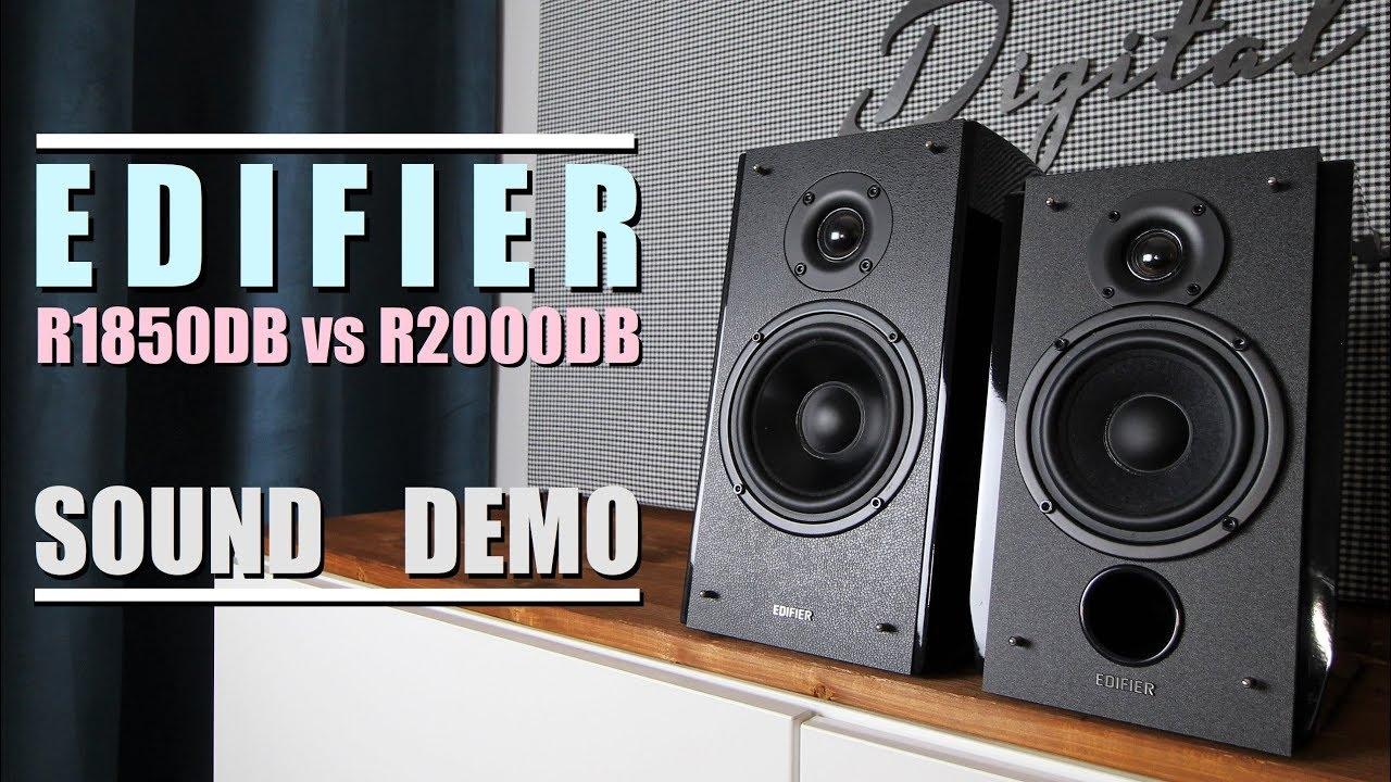 Edifier R1850DB vs Edifier R2000DB  ||  Sound Demo w/ Bass Test