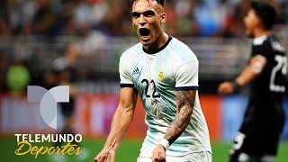 Lautaro Martínez supera el arranque de Messi, Batistuta y Maradona | Telemundo Deportes