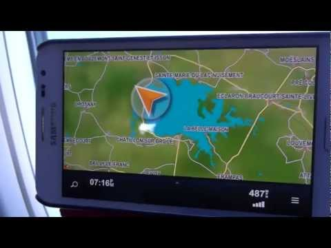 Trying my car satnav GPS while in Jet Airplane at 500 mph, see what happened.
