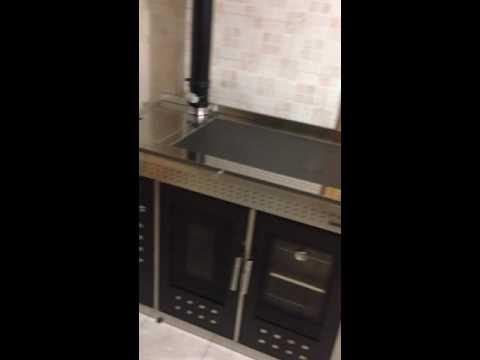 Klover Smart 120 terno cucina pellet - YouTube