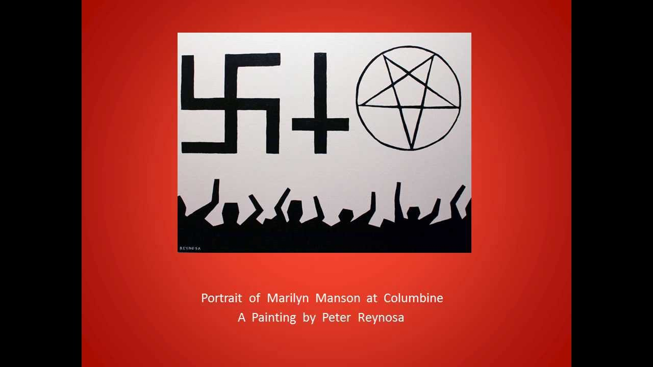 Portrait Of Marilyn Manson At Columbine A Painting By Peter Reynosa