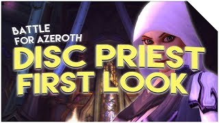 Discipline Priest in Battle for Azeroth (First Look, Spell Changes & Talents)
