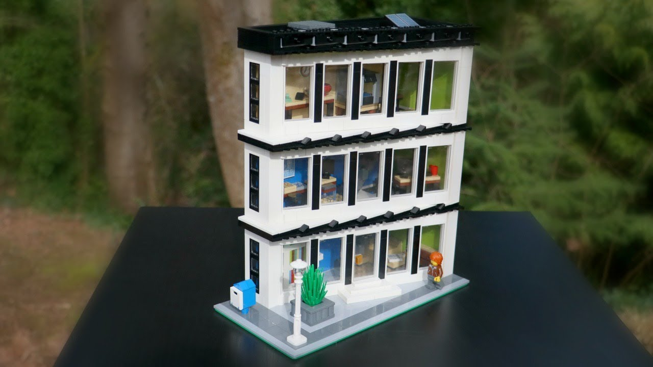 lego office building. Custom LEGO Modular Engineering Headquarters Office Building MOC⎪Using The Angled Technique Lego E