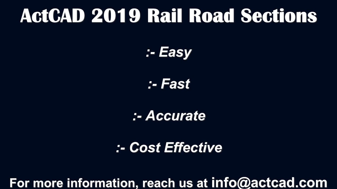 ActCAD 2019 Rail Road Sections Banking Design Automation Profile