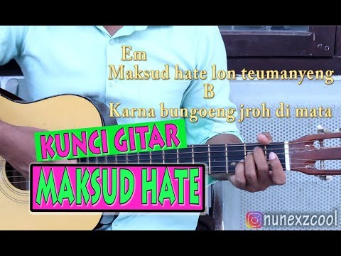 "Kunci Gitar ""MAKSUD HATE"" (Chord)"