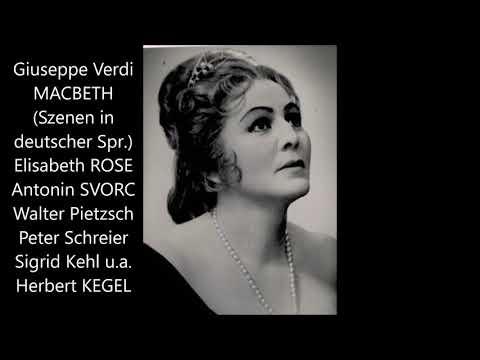 Verdi: Macbeth (Szenen, deutsch, 1963, Herbert Kegel, Rose, Svorc)