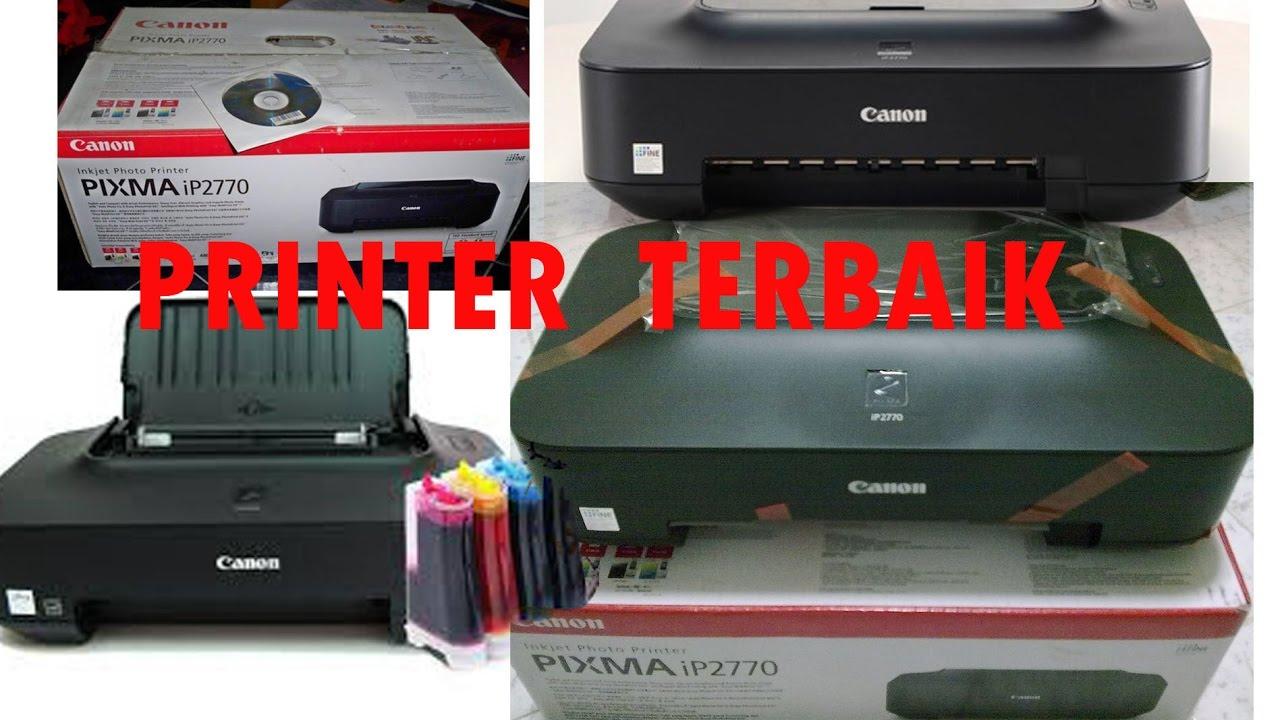CARA PAKAI PRINTER IP 2770 DAN INSTAL DENGAN BENAR - YouTube