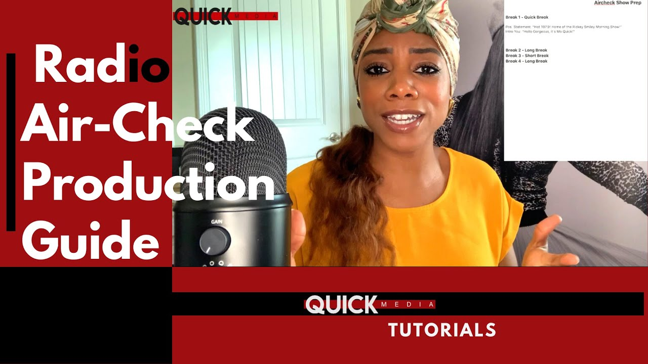 Radio AirCheck Production Tutorial