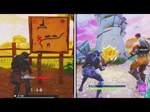"Fortnite ""Follow the treasure map found in Anarchy Acres"" Week 5 Challenge Location Battle Royale"