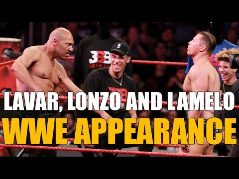 LAVAR BALL & THE BALL BROTHERS ON WWE!