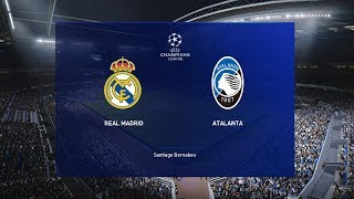 pes 2020 real madrid vs atalanta uefa champions league 2020 match gameplay youtube