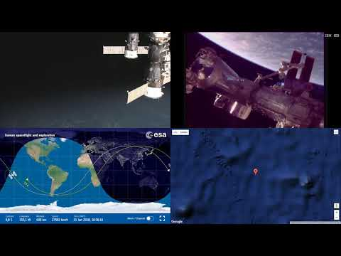 Orbital Sunrise Over Pacific - ISS Space Station Earth View LIVE NASA/ESA Cameras And Map - 34