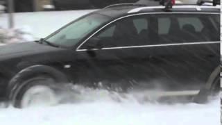 Audi Allroad (Ауди Оллроад) едет по глубокому снегу!