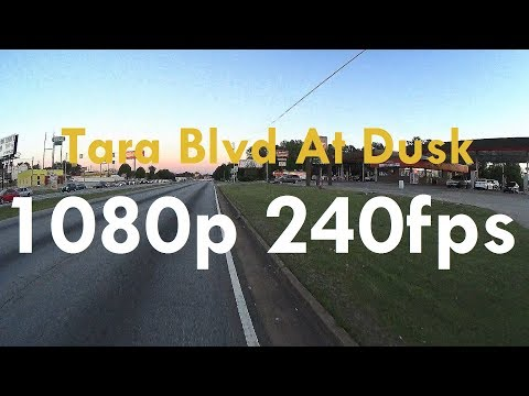 Riding On Tara Blvd To Mt Zion Rd In 1080p240 (Sony X1000v, 1080p 240fps)