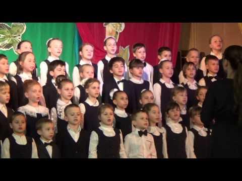 Хор музыкальных классов на отчетном концерте: Всюду музыка живет